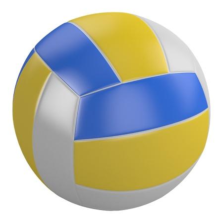 ballon volley: volley-ball isol� sur fond blanc