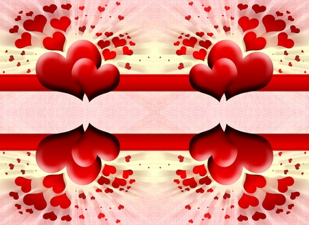 Hearts on a abstract background photo