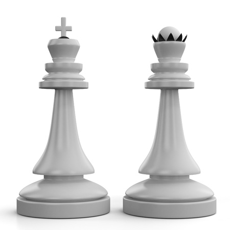 tablero de ajedrez: Ajedrez Rey y la Reina