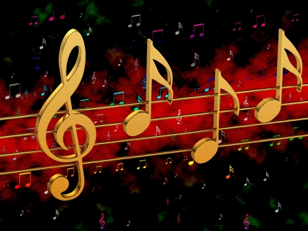 Background music with notes Banque d'images