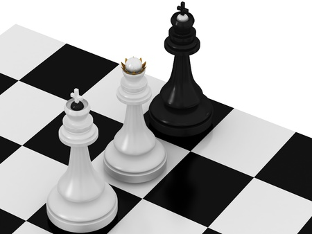 Check and mate Stock Photo - 13609233