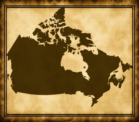Map of Canada photo