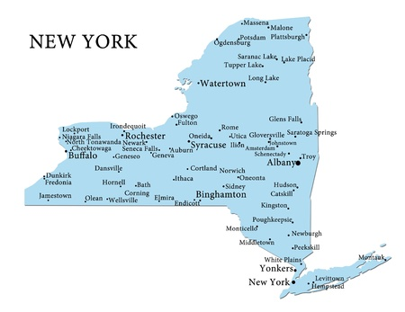 albany: Map of New York Stock Photo