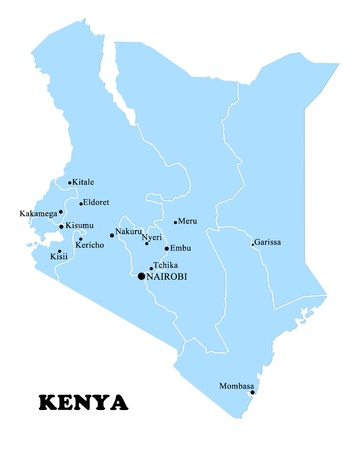 Map of Kenya photo