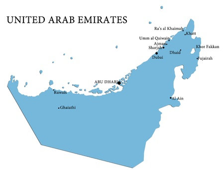 Map of United Arab Emirates country photo