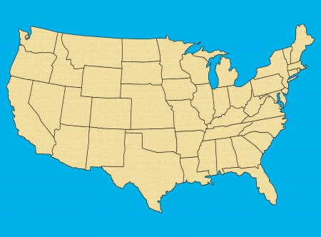 Map of USA with states photo