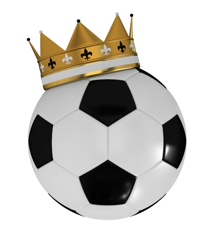 Golden crown and soccer ball photo