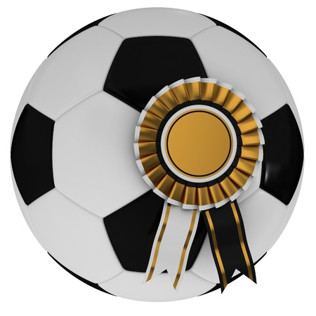 Soccer ball and award photo