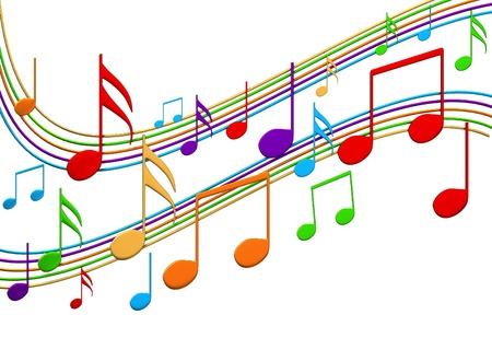 音楽ノート 写真素材