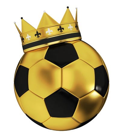 world championship: Soccer ball with crown