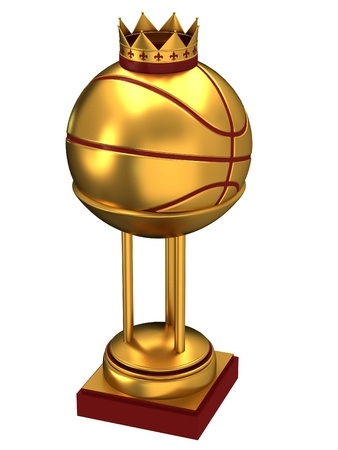 Basketball ball with cup Stock Photo - 13869082