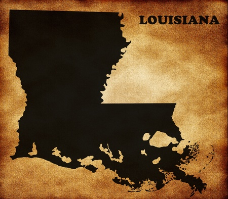 louisiana state: Map of Louisiana state Stock Photo