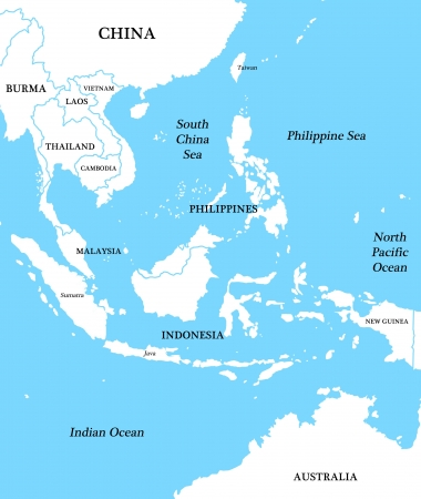 vietnam: Map of Indonesia Stock Photo