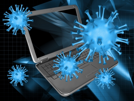 removing the risk: A computer virus Stock Photo