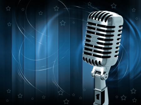 Vintage microphone Stock Photo - 13963993