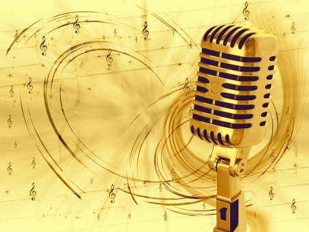Vintage microphone Stock Photo - 13964018
