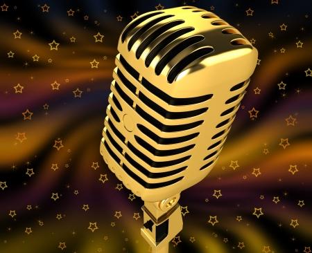 Vintage microphone Stock Photo - 13963992