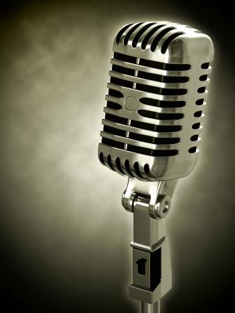 microfono antiguo: Micr�fono de la vendimia Foto de archivo