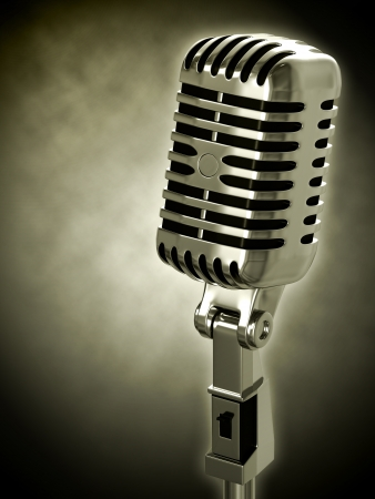 Vintage microphone Stock Photo - 13963984