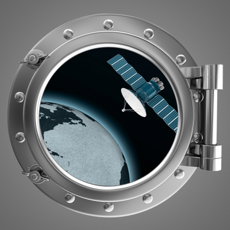 Porthole with a view a satellite photo