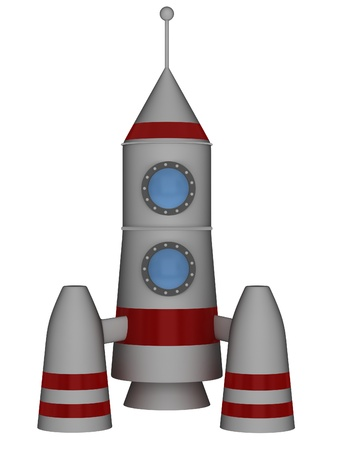 Space Rocket on a white background photo