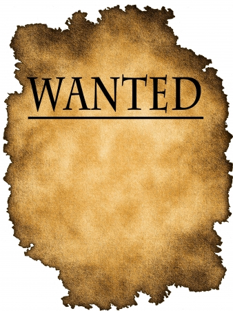 outlaw: Wanted poster Stock Photo