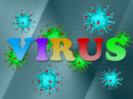 label the virus against virus photo