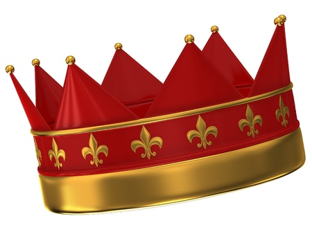 Crown isolated on white background photo