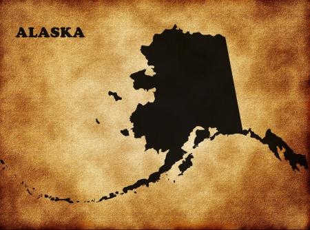 Map of Alaska photo