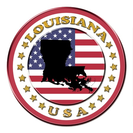 The symbol state of Louisiana on the background with flag photo