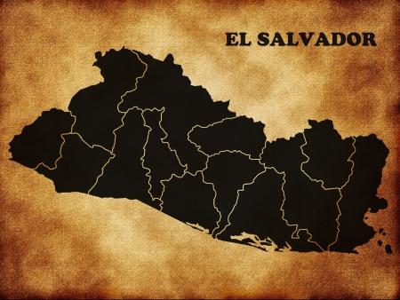 el salvador: Map of the Republic of El Salvador Stock Photo