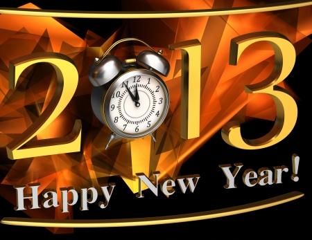 2013 year inscription on the abstract background Stock Photo - 14566177