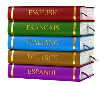 The book translators isolated on white background