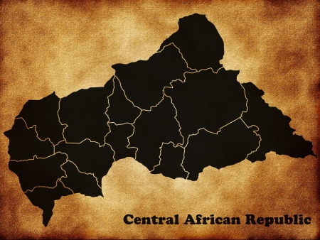 central african republic: Map Central African Republic Stock Photo