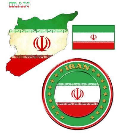 Award with the symbols of Iran, map of Iran photo