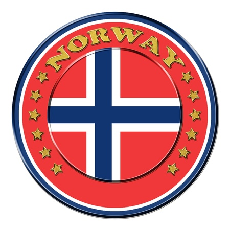 Award with the symbols of Norway photo