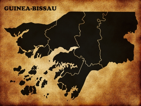 bissau: Map of Guinea Bissau Stock Photo