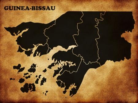 guinea bissau: Map of Guinea Bissau Stock Photo