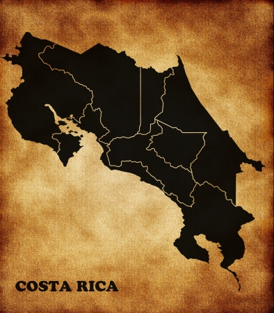 Map of the Republic of Costa Rica photo