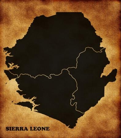 sierra: Map of Sierra Leone Stock Photo