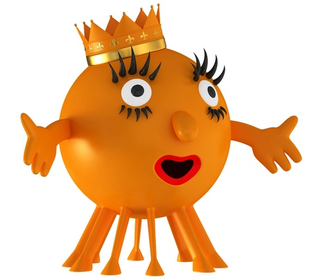 Fun space orange alien Stock Photo - 15204931