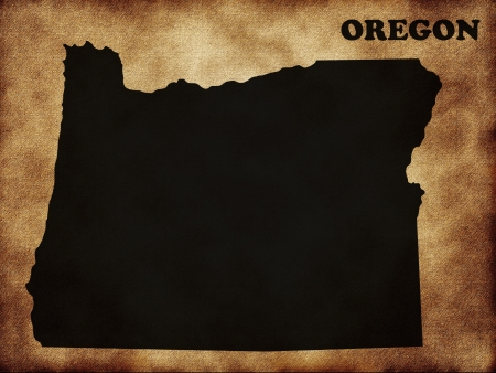 state of oregon: Map of the state Oregon