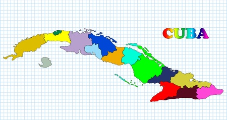 Map of Cuba photo