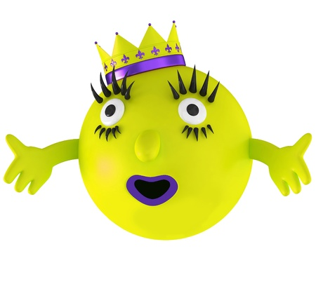 Fun space yellow alien isolated on white background Stock Photo - 15065939