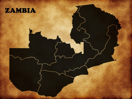Map of Zambia country photo