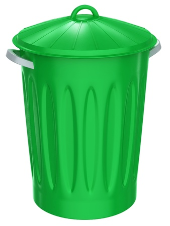 Recycle bin on a white background photo