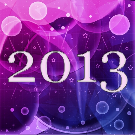 2013 year inscription on the abstract background photo