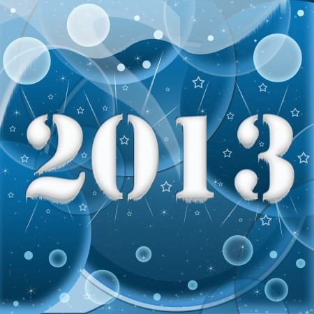 2013 year inscription on the abstract background Stock Photo - 15326957