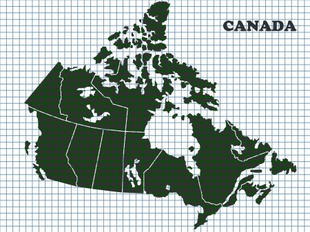 quebec: Map of Canada  Stock Photo