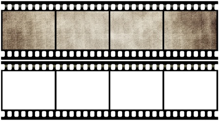 Blank film strip Stock Photo